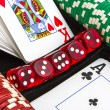 Items from the casino — Stock Photo