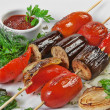 Grilled vegetables and herbs - Stock Photo