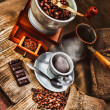 Grinder and other accessories for coffee — Stockfoto #11391897