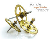 Gears of the old clock — Stock Photo