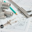 Instrumente und Mechanismen-detail — Stockfoto