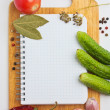 Stock Photo: Notebook with recipes
