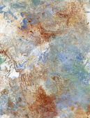 Oil paint glazes and acrylics on paper — Stock Photo
