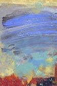 油絵の具の釉薬とハードボード上のアクリル — ストック写真