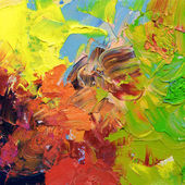 Abstract impasto oil paints — Stock Photo