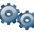 Two gears. — Stock Vector #10979190
