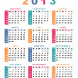 Calendar 2013 (week starts with sunday). — Stock Vector