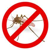 Dur sivrisinek işareti. — Stok Vektör