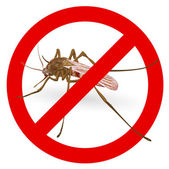 Stop mosquito sign. — Stock Vector