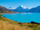 Emerald glacier Lake Pukaki, Aoraki Mt Cook NP, NZ — Stock Photo