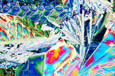 Tartaric acid crystals in polarized light — Stock Photo