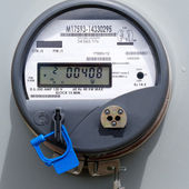 Smart grid residential digital power supply meter — 图库照片