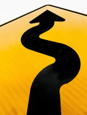 Wavy arrow concept of winding road to success — Stock Photo