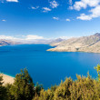 Blue surface of Lake Hawea, Central Otago, NZ - Lizenzfreies Foto