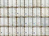 Pattern of shipping container stack at depot — Stock Photo