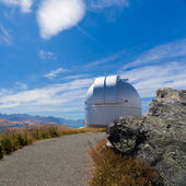 Domed astronomy observatory on mountain top — Stock Photo