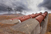 Hydroelectric plant in renewable energy concept — Stock Photo
