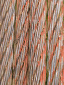 Old rusty steel cable background texture pattern — Stock Photo