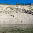 Stock Photo: Erosion on cutbank of Yukon River in Canada