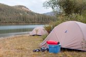 Wilderness camping on shore of Yukon River, Canada — Stock Photo