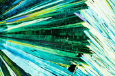 Urea or carbamide crystals in polarized light — Stock Photo