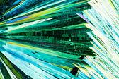 Urinämne eller karbamid kristaller i polariserat ljus — Stockfoto