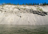 Erosion on cutbank of Yukon River in Canada — Stock Photo
