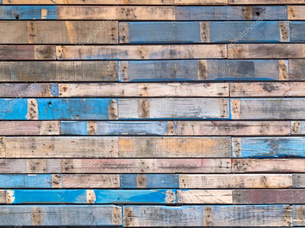 Grungy Blauw Geschilderd Houten Planken Van Exterieur Gevelbekleding Stockfoto Pilens 11716441