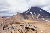 Active volcanoe cone of Mt Ngauruhoe New Zealand — Stock Photo