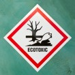 Stock Photo: Ecotoxic hazard symbol warning sign