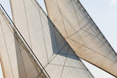 Yacht sails and rigging detail abstract background — Stock Photo