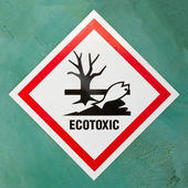 Ecotoxic hazard symbol warning sign — Stock Photo
