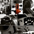 Stock Photo: Violin collage