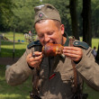 Stock Photo: Nazi eats