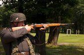Nazi sniper — Stock Photo