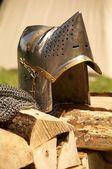鉄のヘルメット — ストック写真