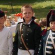 Stock Photo: Children in uniform arillerymen XIX century