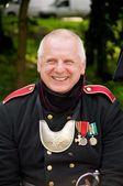Mann in uniform arillerymen xix jahrhundert — Stockfoto
