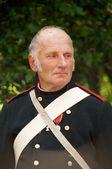 Senior in uniform arillerymen XIX century — Stock Photo