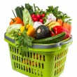 Vegetable Groceries in Shopping Basket — Stock Photo