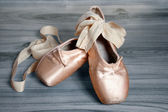 Worn ballet shoes — Stock Photo