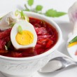 Cold Borsch Soup — Stock Photo
