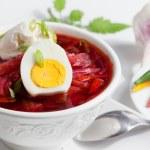 Cold Borsch Soup — Stock Photo