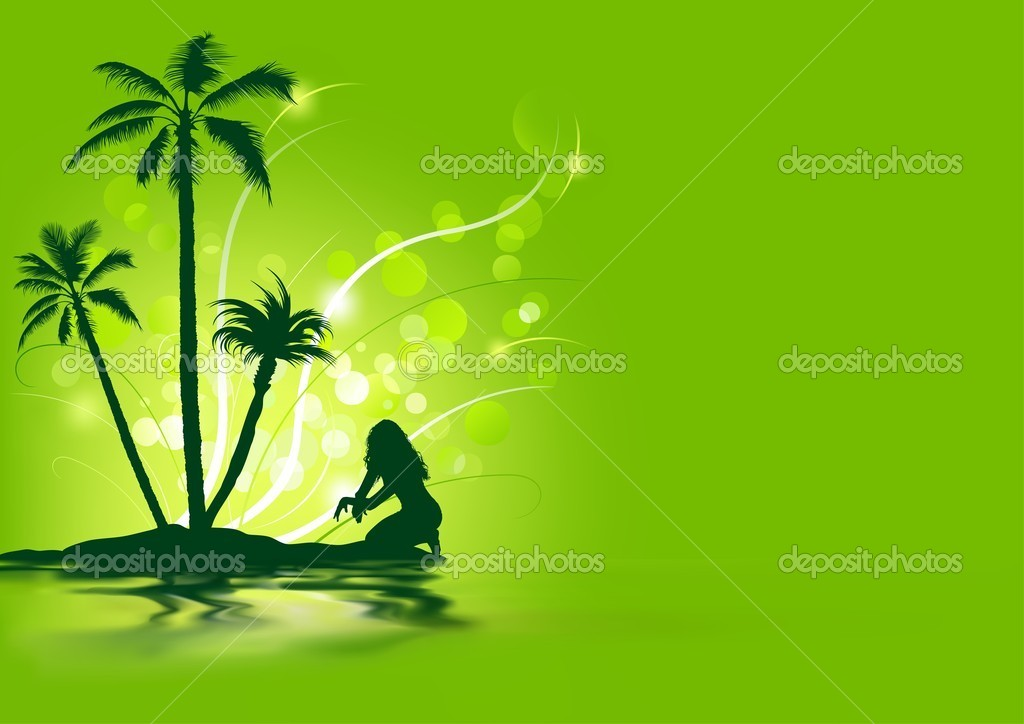 Tropical Holiday - Abstract Background Illustration — Stock Photo #11259338