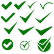 Check Mark Object Icons — Stock Photo #11859832