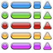 Glass Buttons — Stok fotoğraf