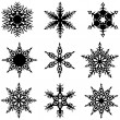 Snowflakes Set — Stock Photo #11979928