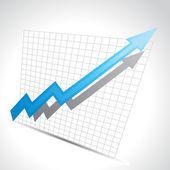 Vector business arrow — Stock Vector