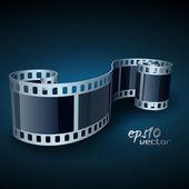 Film reel vecteur réaliste — Vecteur