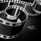 Realistic vector reel film — Stock Vector
